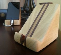 Badass wood iPhone docks.