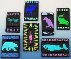 KillerDesigns.com -- Pin/Pendant with Alaskan image; fused glass