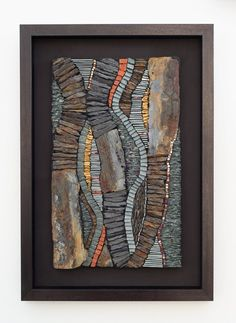This site contains the artwork of Rachel Davies, who creates contemporary mosaic art from slate, stone and glass. Mosaic Diy, Mosaic Crafts, Mosaic Ideas, Glass Wall Art, Stained Glass Art, Glass Door, Trending Art, Islamic Art Calligraphy, Calligraphy Alphabet
