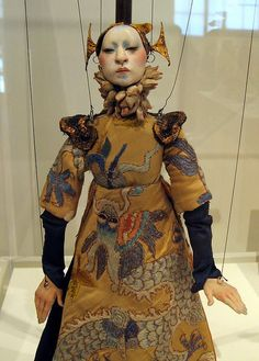 Marionette in a beautifully embroidered gown.