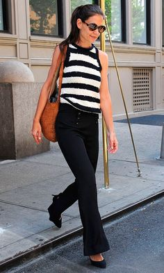 Katie Holmes Out In New York, 2012