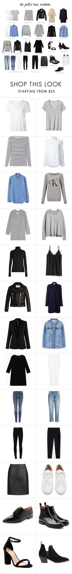 """The perfect basic wardrobe"" by uselessdk on Polyvore featuring R13, Misha Nonoo, MANGO, Calvin Klein, By Malene Birger, Raey, Acne Studios, STELLA McCARTNEY, Max&Co. and Citizens of Humanity"