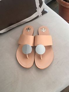 c9659702fa3f TORY BURCH NEW Nude Sandals Size 8  fashion  clothing  shoes  accessories   womensshoes  sandals (ebay link)