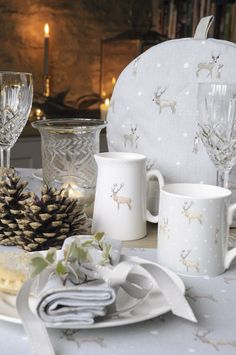Delightful matching accessories by Sophie Allport to brighten up a winter table