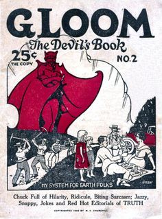 """Gloom:  the Devil's Book."" 1922 satire magazine. From Vintage Printable."