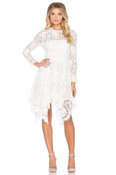 Lover Halo Hankey Mini Dress in Snow