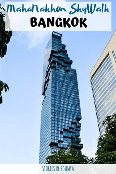Walking on the glass tray at the Mahanakhon Tower in Bangkok is truly an out-of-the-world experience. Read our detailed guide to make the most of your trip. Bangkok Itinerary, Bangkok Travel, Thailand Travel, Asia Travel, Bangkok Thailand, Laos Travel, Beach Travel, Mahanakhon Tower, Sky Walk