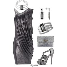 Untitled #359 by mzmamie on Polyvore featuring Jane Norman, Charlotte Russe, Anya Hindmarch and Baccarat
