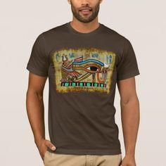 Shop Egyptian Eye of Horus Ancient Art Designer Shirt created by PrintedGifts. Egyptian Eye, Eye Of Horus, Ancient Art, Dark Colors, Tshirt Colors, Fitness Models, Shirt Designs, How To Make, How To Wear