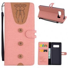 Ladies Bow Clothes Pattern Leather Wallet Phone Case for Samsung Galaxy  Note 8 - Pink - Leather Case - Guuds 070aa60103c1