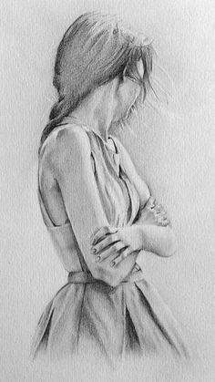the lonely girl graphite pencil drawing by jacqui belcher art - pencil sketch drawing Pencil Drawings Of Girls, Pencil Sketch Drawing, Sad Drawings, Pencil Drawing Tutorials, Art Drawings Sketches, Drawing Tips, Drawing Ideas, Drawing Drawing, Sketch Art