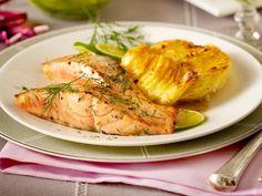 Dill-Lachs mit Kartoffel-Meerrettich-Gratin Rezept | LECKER