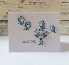 Clearly Besotted Bird Bath Mini set card by Keren Baker