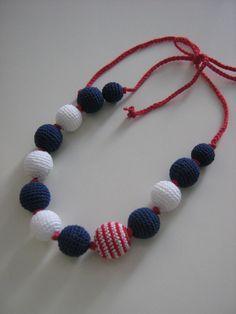 Crochet necklace -Mariner