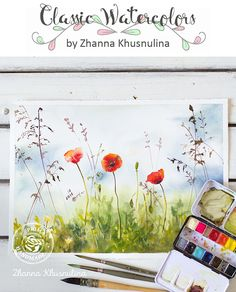"Isn't it amazing how an artist can take a palette of watercolors and turn it into a beautiful picture for us to enjoy? Our watercolor confections are perfect for the artist hidden inside you! ""For this picture I used Watercolor Confections, the Classic Set. Hope you enjoy :)"" ~ Zhanna Khusnulina"
