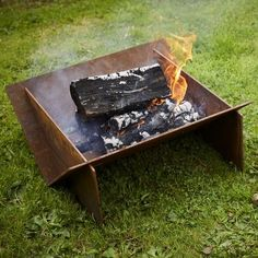 NEW Flat-pack Corten Steel 'Minima' Firepit Steel Edging, Vegetable Planters, Fire Pit Decor, Rooftop Design, Weathering Steel, Outdoor Steps, Steel Fire Pit, Outdoor Heaters, Fire Table