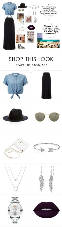 """""""Sem título #23"""" by laurenmello-473 on Polyvore featuring moda, Miss Selfridge, Jacques Vert, Ray-Ban, Bling Jewelry, Movado e Lime Crime"""