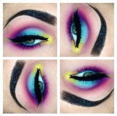 Mardi Gras Makeup Looks Rave Makeup, Glam Makeup, Makeup Tips, Beauty Makeup, Makeup Ideas, Makeup Style, Makeup Tutorials, Sugarpill Cosmetics, Makeup Cosmetics