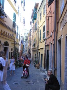 One of the two main streets to explore in Portovenere, Liguria Italy near La Spezia.