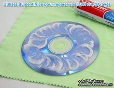 How to fix scratches on a CD/DVD with toothpaste.totally work with our Cars DVD thank goodness! Note: Only worked for 2 more times and then back to skipping. Diy Cleaning Products, Cleaning Solutions, Cleaning Hacks, Do It Yourself Home, Good To Know, Tricks, Just In Case, Helpful Hints, The Help