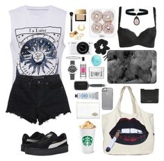 """04-01-2015 [#164]"" by brigittaclarissa ❤ liked on Polyvore featuring Fendi, T By Alexander Wang, Puma, LAUREN MOSHI, Casetify, rag & bone, T3, The Body Shop, Eos and Clinique"