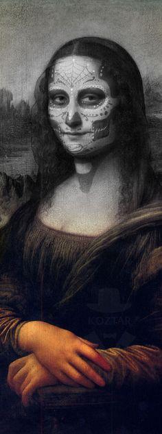 Mona Lisa Muerto -- Mona Lisa Parodies #Joconde