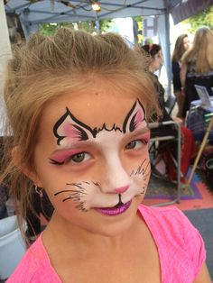 "Cat face painting. Painted by ""Z"" of ""Z"" Face & Body Art at the Durham Fair 2015"