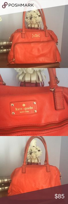 ♠️ KATE SPADE ♠️ Red leather Satchel (KS21RS30) Kate Spade Red leather satchel in preloved condition. A perfect roomy bag for work or travel. Comes with removable shoulder strap. A great find in a classic color. kate spade Bags Satchels