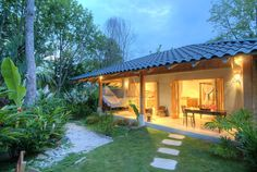 Beach Casitas With Tropical Luxury, Style And Privacy.. Batik Casita is a charming 'small house' set in the same luxurious gardens as the Batik Beach Villa...