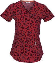 421c3b9c6ad Code Happy 46609A Women's Mock Wrap Top Little Leopard X-Large Nursing  Magazines, Cherokee