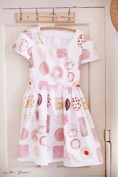 Handmade dress  with original textiles by Caitlin Shearer - MADE TO ORDER. $150.00, via Etsy.