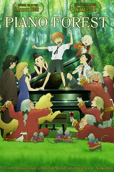 """Piano no Mori: The Perfect World of Kai"" (ピアノの森 – The perfect world of KAI, lit. ""Piano's Forest"") is a manga by Makoto Isshiki. The series was adapted as a 2007 Japanese animated feature film by director Masayuki Kojima and production company. Film Manga, Film Anime, Anime Manga, Anime Art, Movies And Series, All Movies, Anime Piano, Film Animation Japonais, Tsurezure Children"