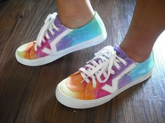 Tie dye Vans shoes by DoYouDreamOutLoud on Etsy, $62.00