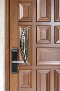 Main Entrance Door Design, Front Door Design Wood, House Entrance, Wood Shutters, Wood Doors, Wood Panel Walls, Wood Paneling, Kitchen Furniture, Furniture Design