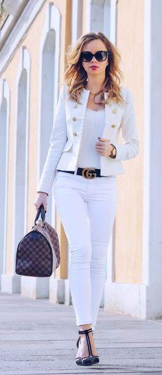 Royal Vanilla - Gucci Belt - Ideas of Gucci Belt - Outfit-Style-Fashion-Streetstyle-White-Blazer-Zara-Spring-Summer-Gucci-Gucci Gürtel-Gucci Belt-Louis Vuitton-Speedy-Royal-Chic-Dressy Look Fashion, Spring Fashion, Autumn Fashion, Fashion Outfits, Womens Fashion, Fashion Trends, Fashion Ideas, Fashion Tips, Dress Fashion