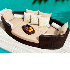 Sirio® Gondola Deep Seating Set by Patio Perfection: Outdoor Furniture; I would like this one day on my back patio or front porch. Outdoor Spaces, Outdoor Living, Chair And Ottoman Set, Outdoor Cover, Lounge, Relax, Patio Seating, Outdoor Furniture, Outdoor Decor