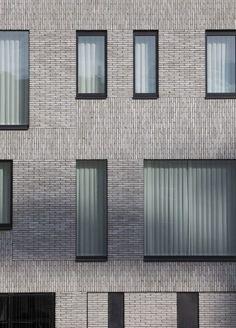 House Facade Brick Design Ideas For 2019 Exterior Wall Cladding, Brick Cladding, Brickwork, Brick Design, Facade Design, Exterior Design, House Design, Building Facade, Building Design