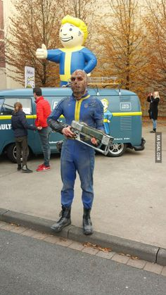 Fallout 4 hype in a German theme park