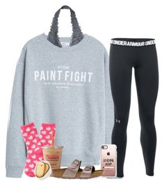"""Never mind getting pointe shoes today!!!!"" by dejonggirls ❤ liked on Polyvore featuring MANGO, Victoria's Secret, Under Armour, Casetify, Aéropostale and Birkenstock"