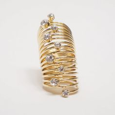 Coiled Gold Slinky Ring