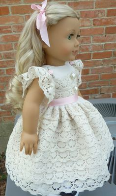 18 Doll Clothes Fancy Special Occasion Dress Fits American Girl Saige, Molly, Emily, Caroline