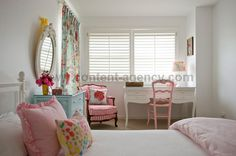 pretty + clean...love the sweet pink & aqua accents