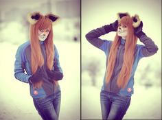 crazy lady fox by MiriamBast.deviantart.com on @DeviantArt