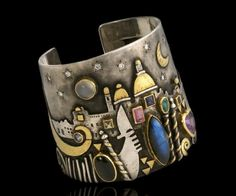 Cuff with lots of gems