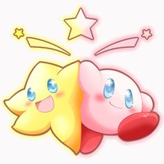 Starfy and Kirby fan art :3