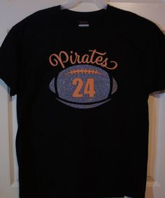 0acb00c608 Custom Football T-shirt Long sleeves Sweatshirt by GlitterMomz