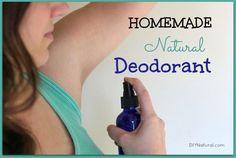 Homemade Natural Spray Deodorant