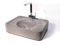 Waschbecken & Badewannen - Betonwaschbecken, Betonwaschtisch - ein Designerstück von WertWerke bei DaWanda