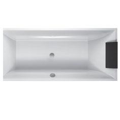 E&S Trading | Kitchen, Bathroom & Laundry - Villeroy & Boch SQUARO 1800mm Quaryl Rectangular Bath BQ180SQR2VB