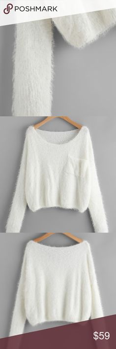 """The Perfect Fuzzy Sweater Restocked! I could barely keep these in.  Super cozy and soft! I'm in love with this sweater. Looks great on. Not itchy and doesn't shed. Perfect for the winter season!  65% Polyester, 35% Viscose Fabric has some stretch  Shoulder(cm) : S:68, M:69 Bust(cm) : S:120, M:124 Length(cm) : S:49, M:50 Sleeve Length(cm) : S:45, M:46 Size Available : S,M  To purchase, use the """"Add to Bundle"""" or """"Buy Now"""" button.  HAPPY NEW YEAR! Sweaters Crew & Scoop Necks"""
